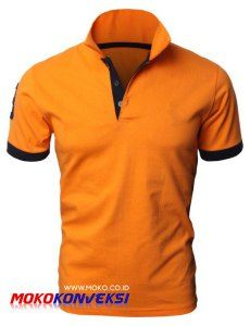Model Kaos Berkerah Warna Orange Baju Polo Shirt Warna