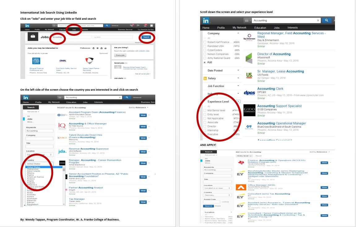 International Job Search Using Linkedin Step By Step Instructions