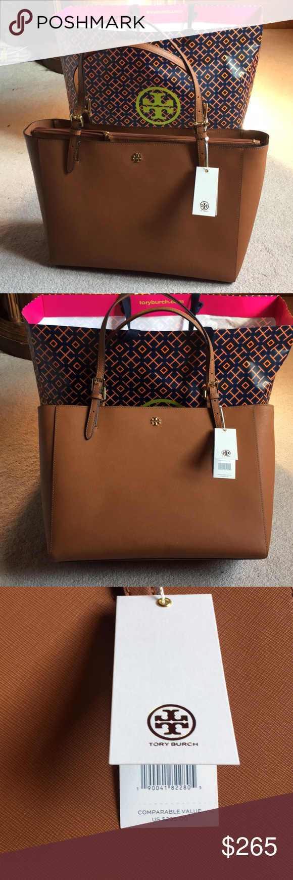 9c674499f320 Tory Burch Emerson buckle tote 👜 NWT luggage tan Tory Burch Emerson buckle  tote 👜 NWT luggage tan Tory Burch Bags Totes