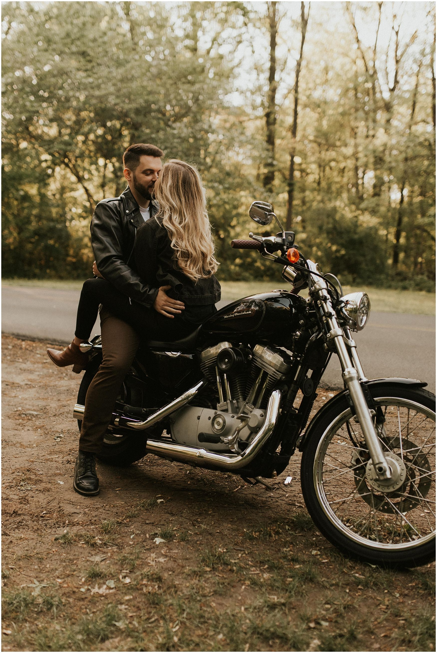 Edgy Motorcycle Couples Session Harley Davidson Photos Motorcycle Couple Harley Couple