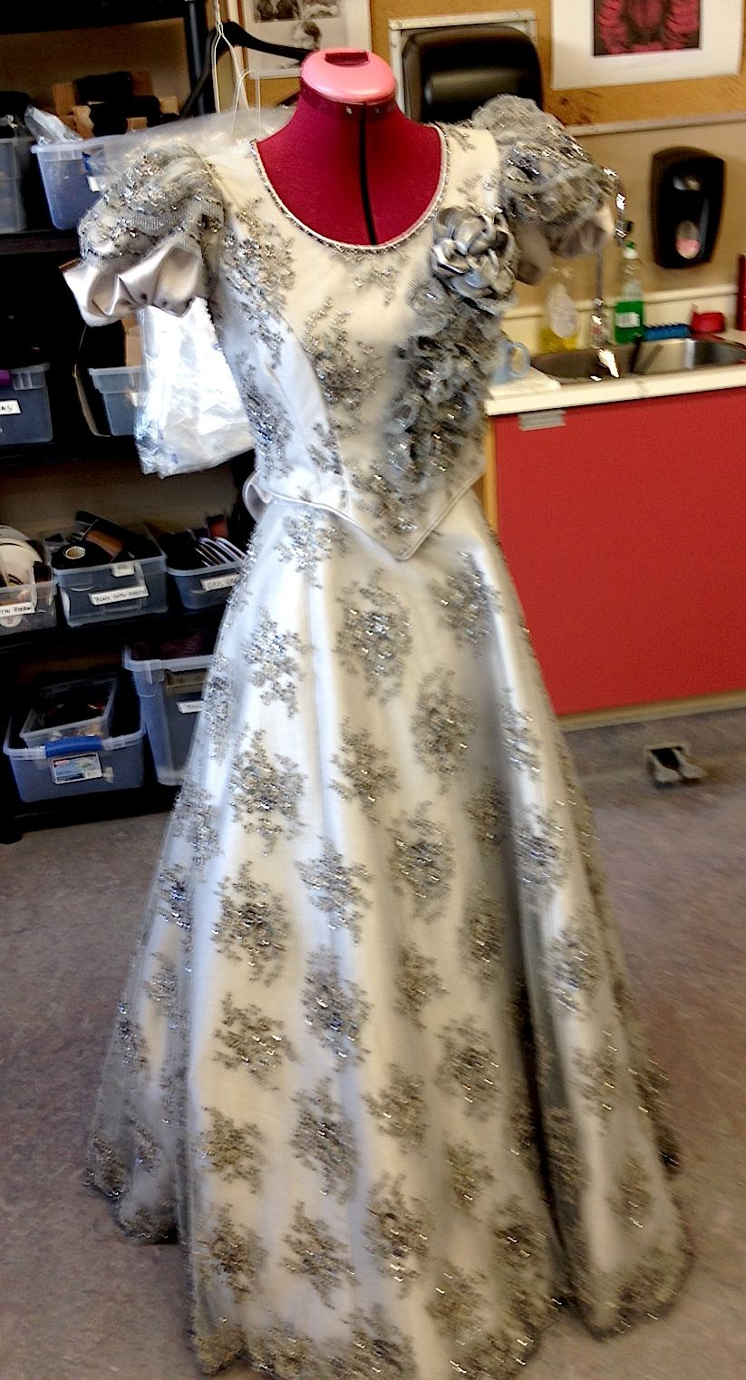 Emma Borden beaded silk evening dress 208 in production at our ...