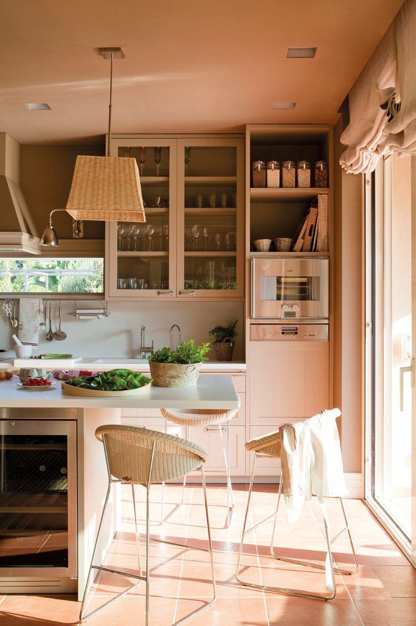 Con office integrado   COCINAS   Pinterest   Casas, Cocinas y Desayuno