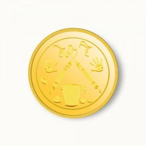 5 Gm Holi Gold Coin 24kt 995 It