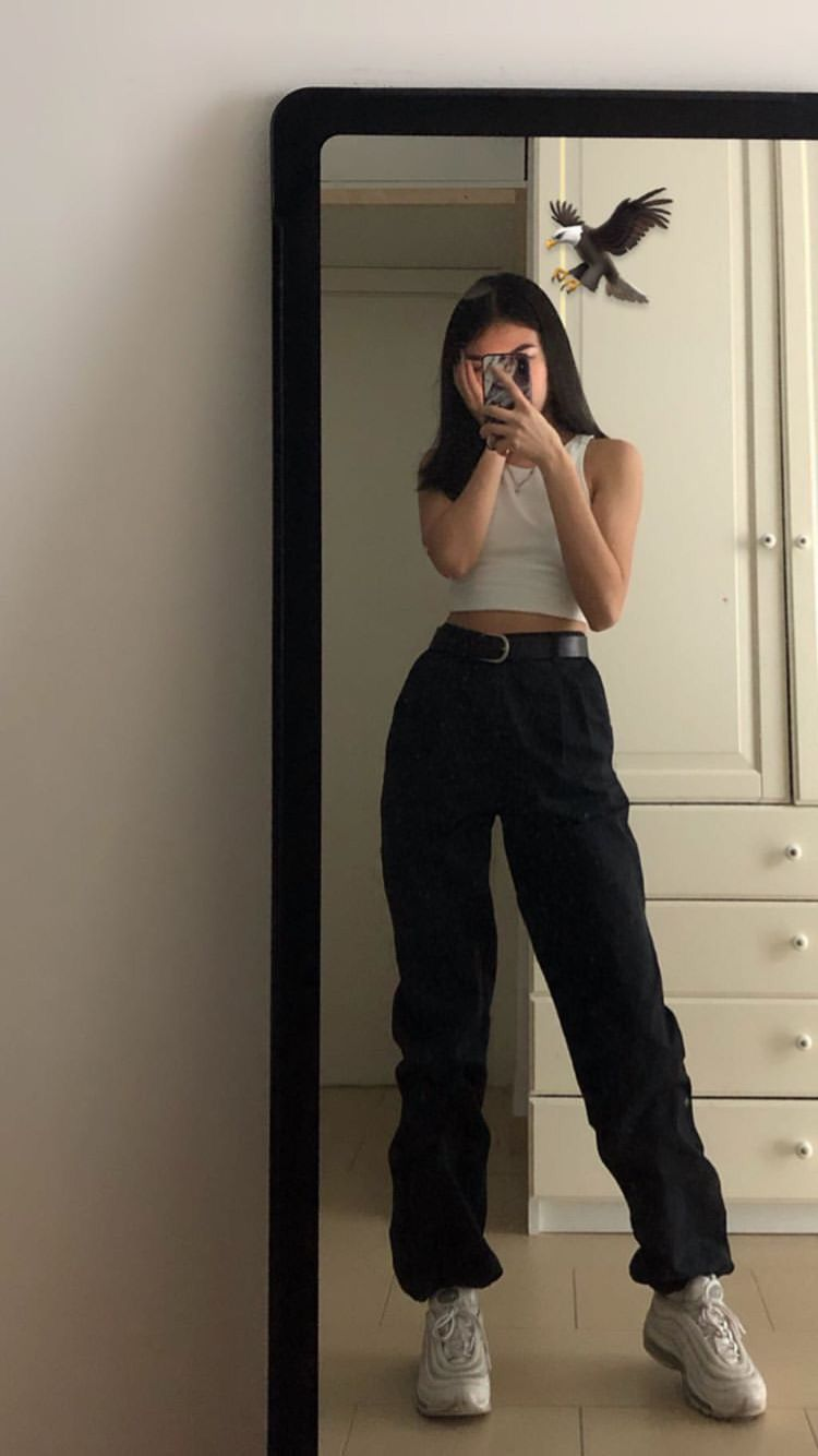 Image result for small top big pants aesthetic clothes