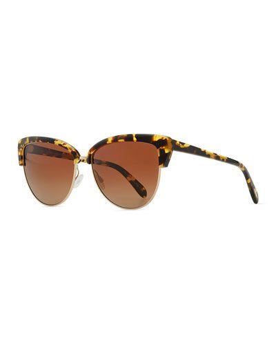 Half Sunglasses Oliver Eye Alisha D0jun Marrón Peoples Cat CtF71Bxqw