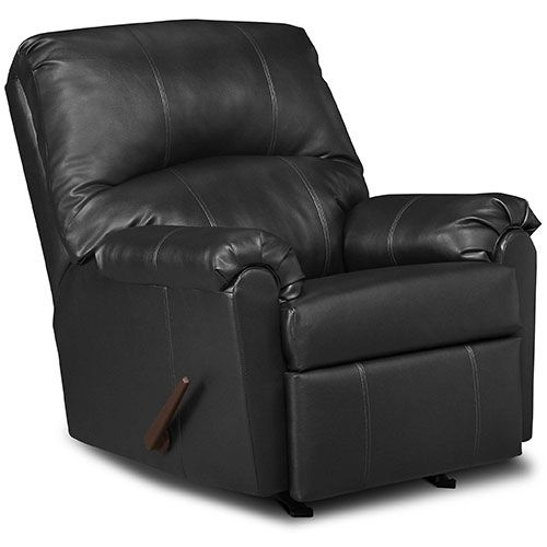 Simmons Windsor Bonded Leather Rocker Recliner Rocker Recliners Black Leather Chair Mattress Furniture