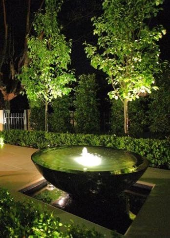Water Feature With Lights Beautiful Yard Water Gardens
