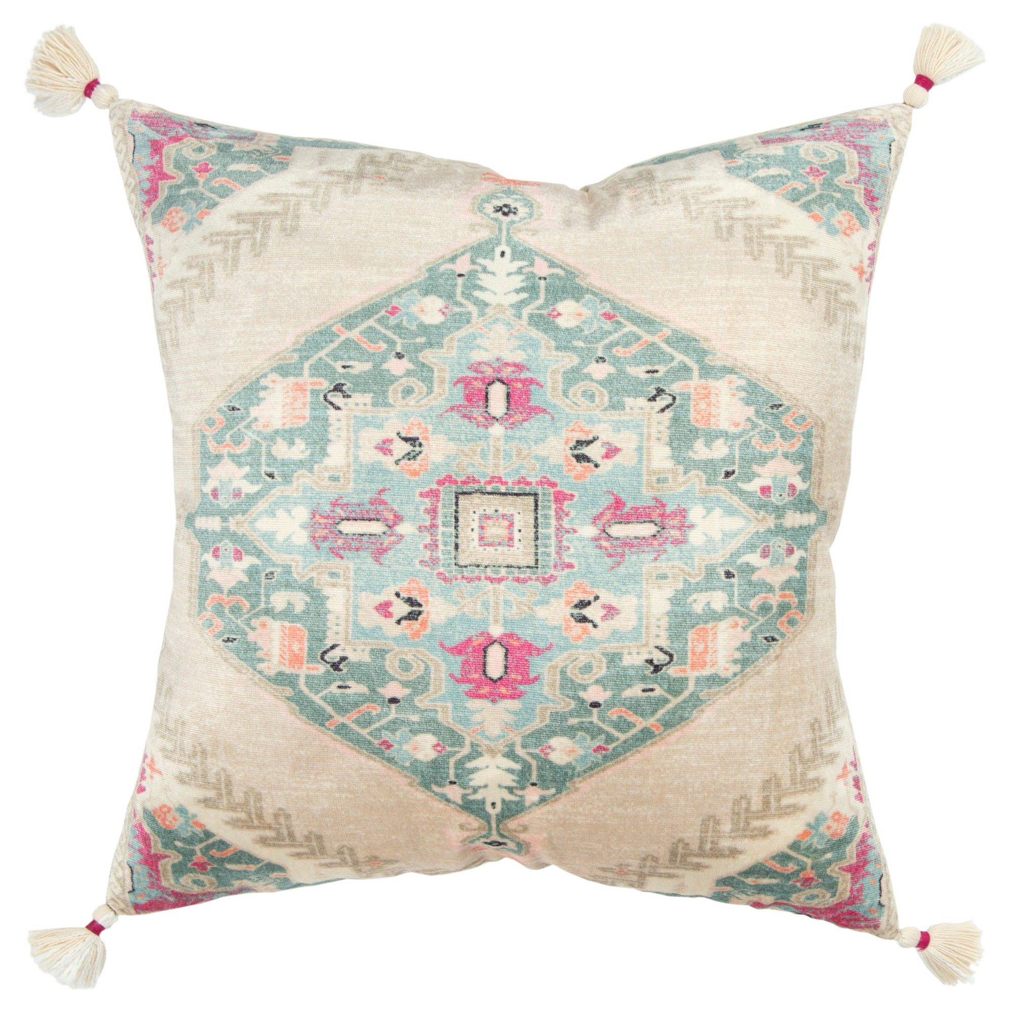 Rizzy Home Medallion Decorative Filled Oversize Throw Pillow