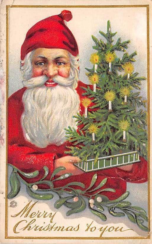 Lot of 13 Early Christmas Postcards Fantasy Santa Angels Greetings ...
