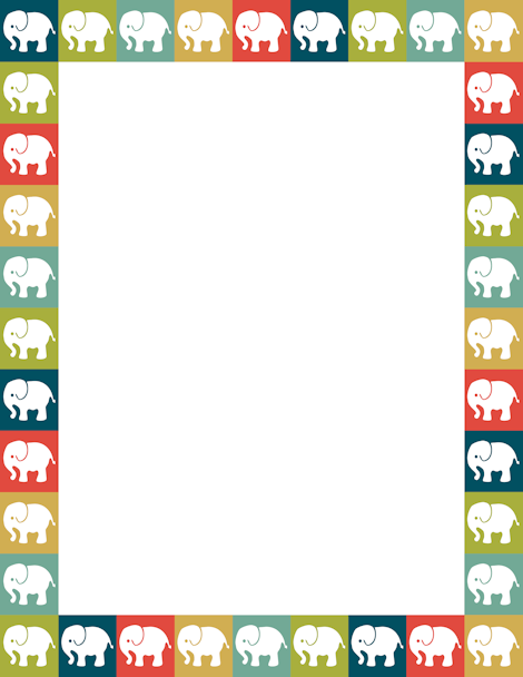 Elephants in squares of various colors Free downloads available