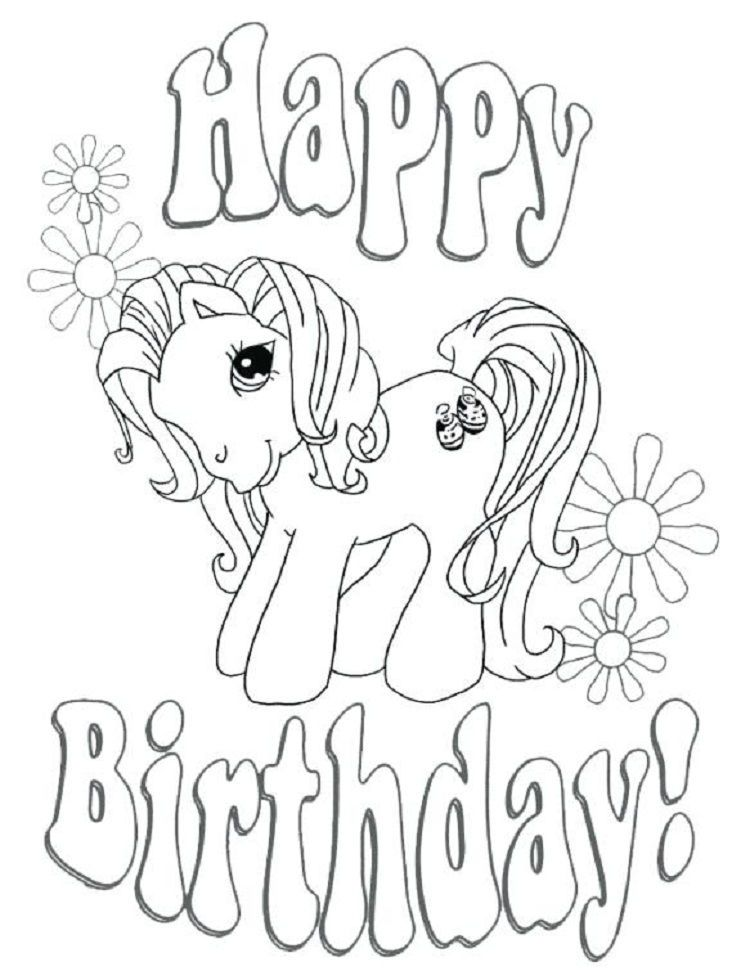 Horse Birthday Coloring Pages Coloring Birthday Cards Happy Birthday Coloring Pages Unicorn Coloring Pages