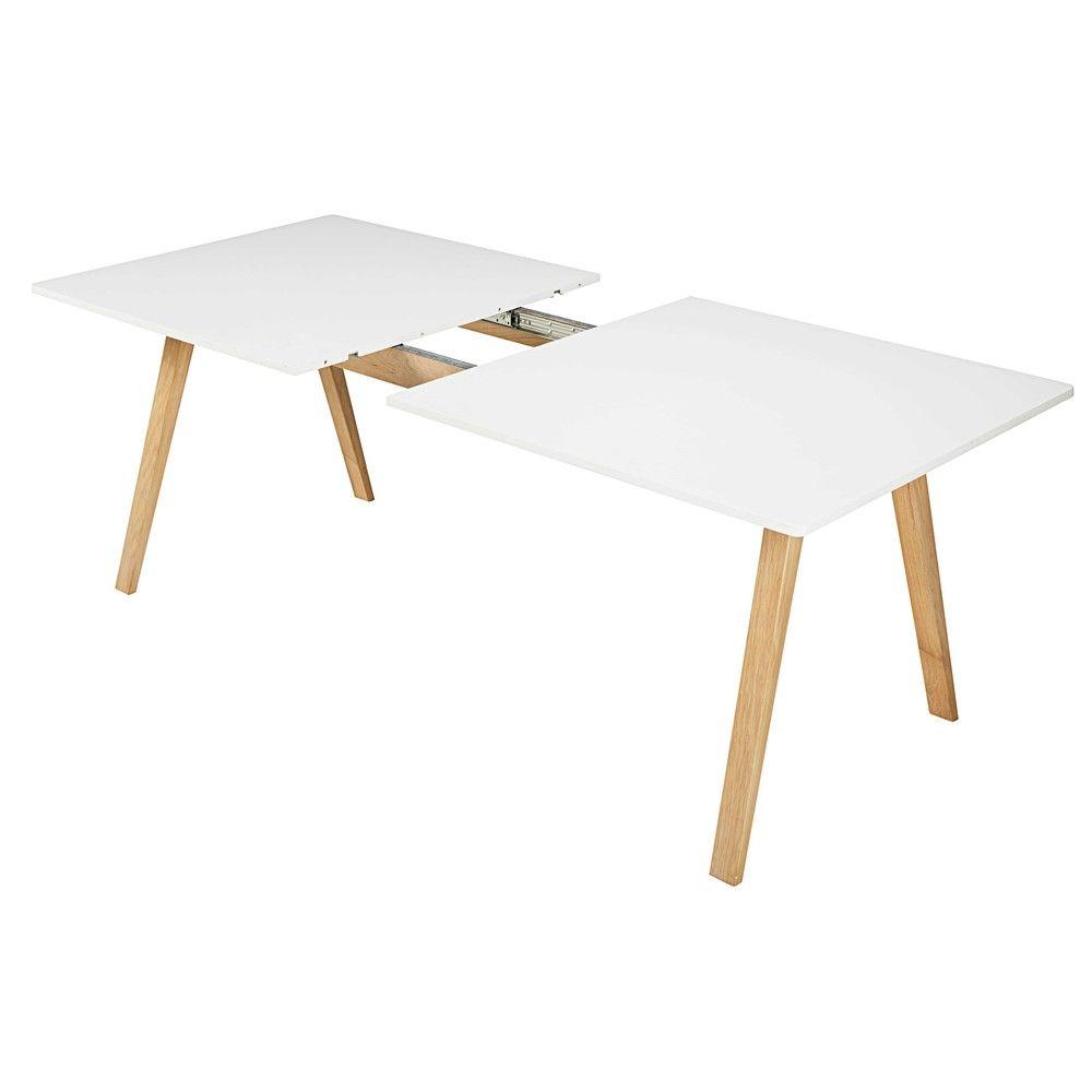 table manger extensible 8 10 personnes blanche l200 245 maisons du monde d coration. Black Bedroom Furniture Sets. Home Design Ideas