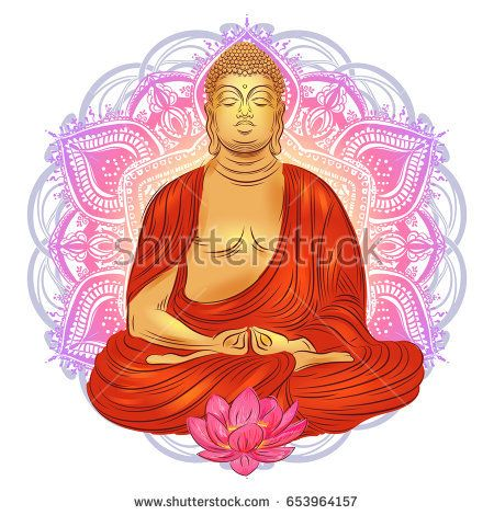 buddha sitting in the lotus position with an illuminated