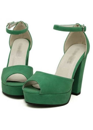 Clear Thick Heel Design Jasper Sandals For Woman