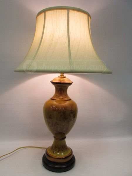 Shopgoodwill Com Bradburn Gallery Asian Pictorial Table Lamp Love