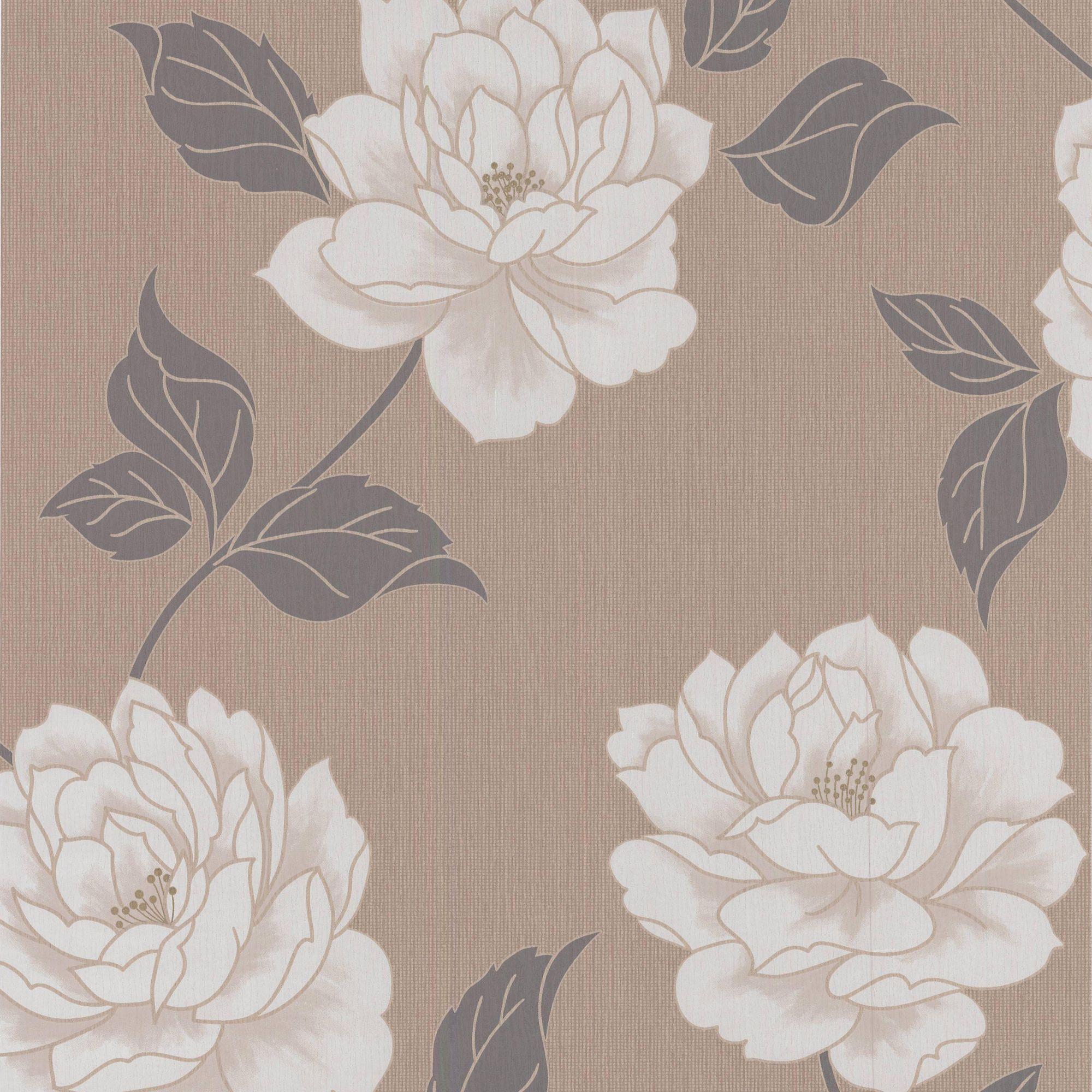 Colours Ella Stone Floral Wallpaper. Arthouse Opera Tatami Black   Red Wallpaper   Departments   DIY at