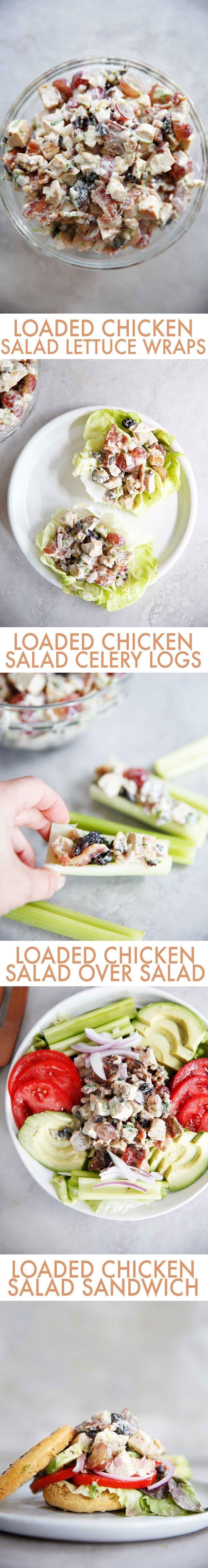 Loaded Chicken Salad Loaded Chicken Salad: Four Ways | Lexi\'s Clean ...