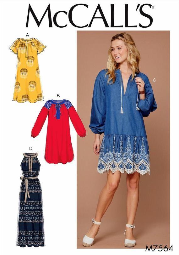 15d410f653 Sewing Pattern Tunic Dress Pattern