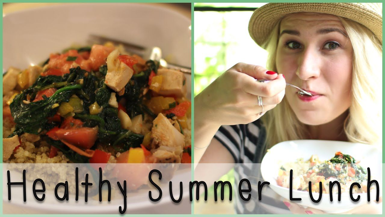 A healthy summer lunch recipe featuring quinoa, fresh vegetables and leftovers!