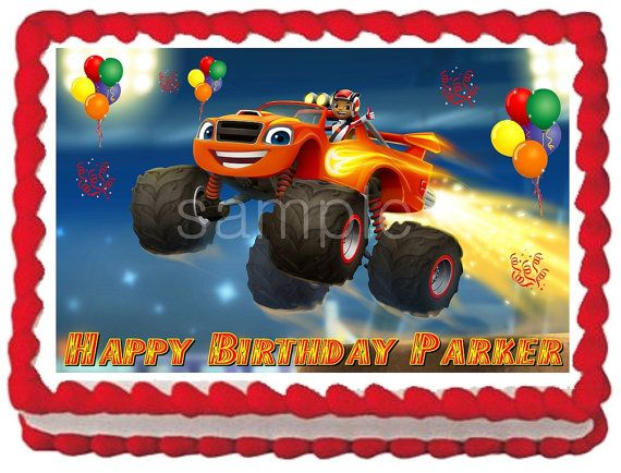 Blaze And The Monster Machines Edible Cake Topper By