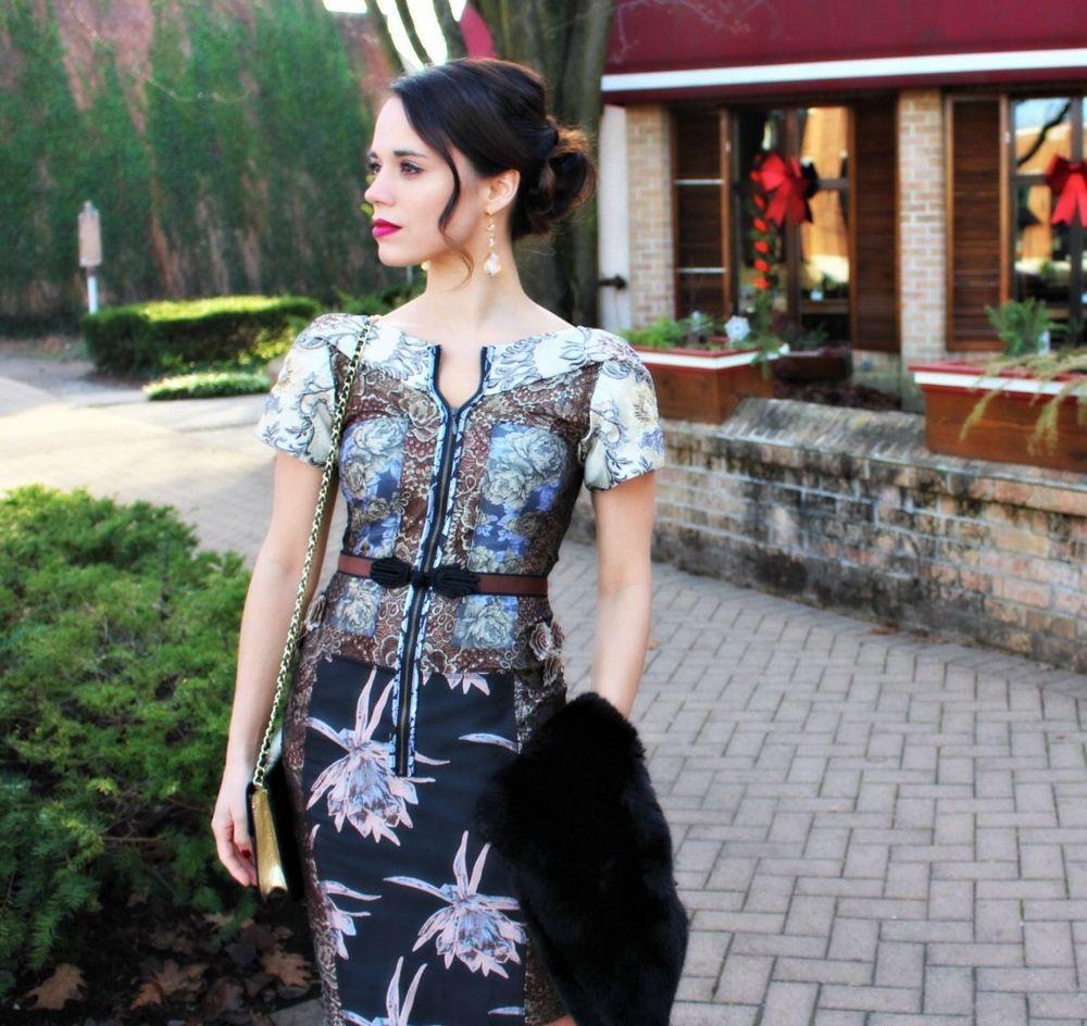 68408604aefd7 New Anthropologie Cocktail Lace Embroidered Brocade Dress Byron Lars, Size 0  XS #BeguileByByronLars #SheathTeaDressWigglePencil #CocktailFestiveWedding