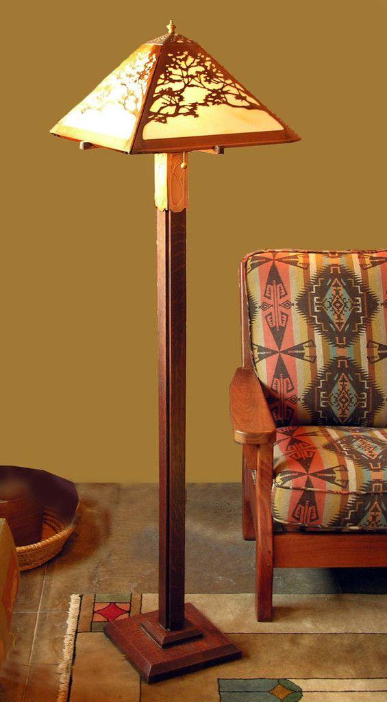 James Mattson Coppercraft - Floor Lamp - Tree Pattern