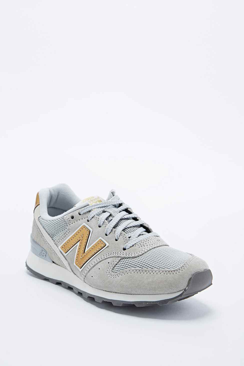 new balance 996 stone vintage leather & mesh sneakers