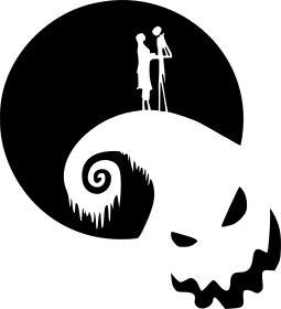 nightmare before christmas romance vinyl decal