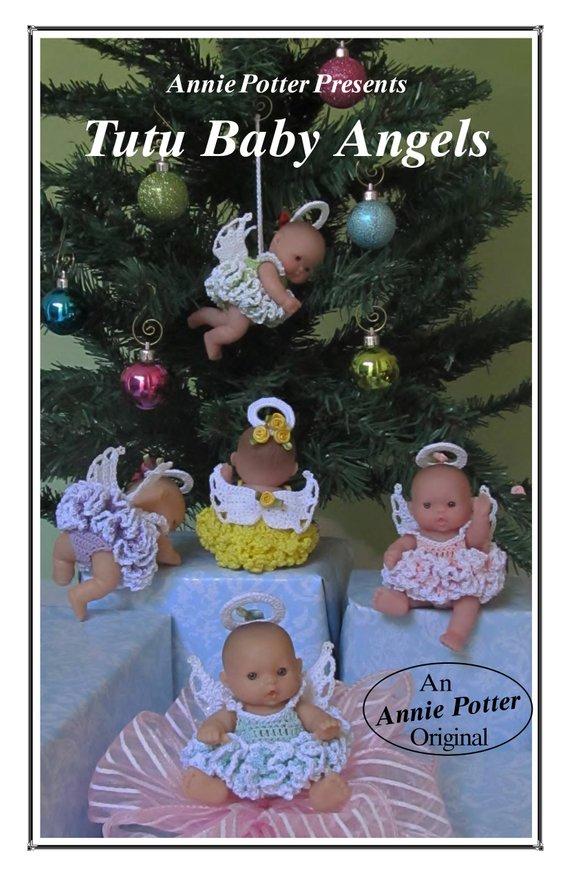Crochet Doll Dress Pattern Tutu Baby Angels Annie Potter Presents