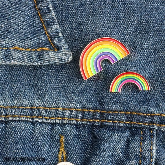 Rainbow Enamel Pin Brooch Badges for Clothes Bags Backpacks Jewelry
