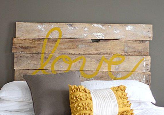 Une tête de lit faite maison | Idées DIY / DIY Projects | Pinterest ...