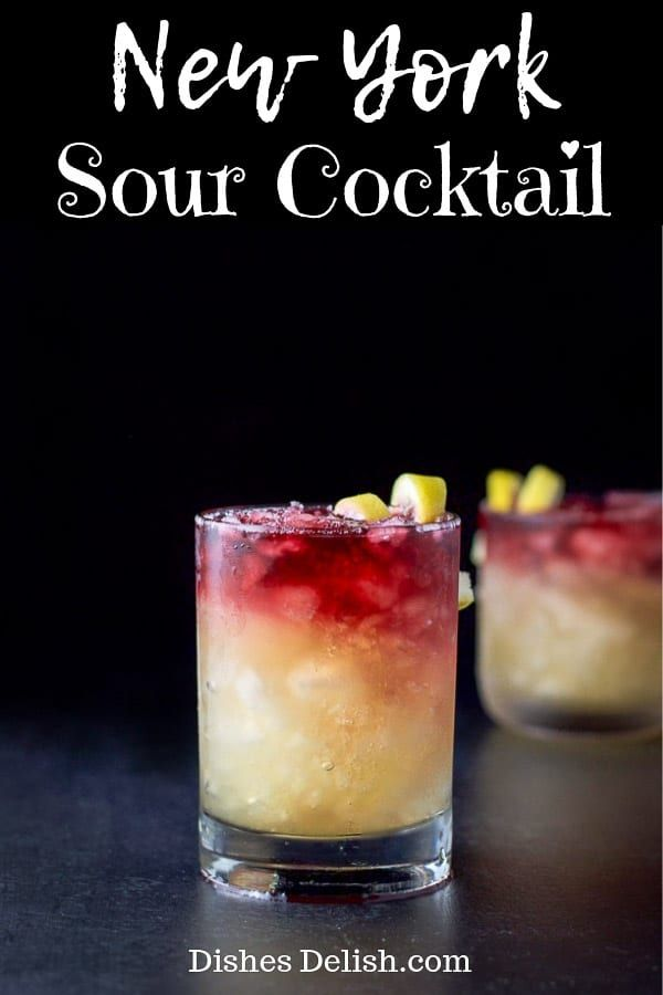 Photo of New York Sour Cocktail | Dishes Delish
