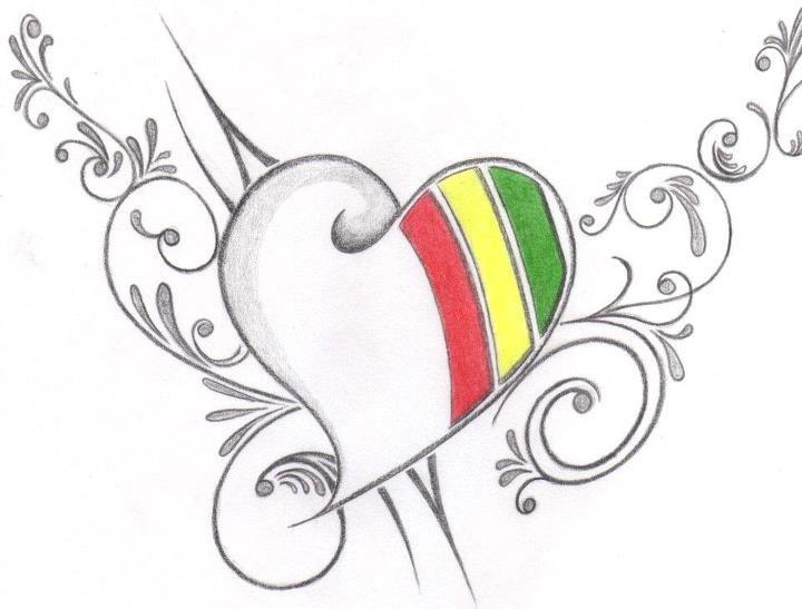 Los Mejores Corazones Hechos A Lapiz Por Artistas Dibujos De Corazones Dibujos Corazones