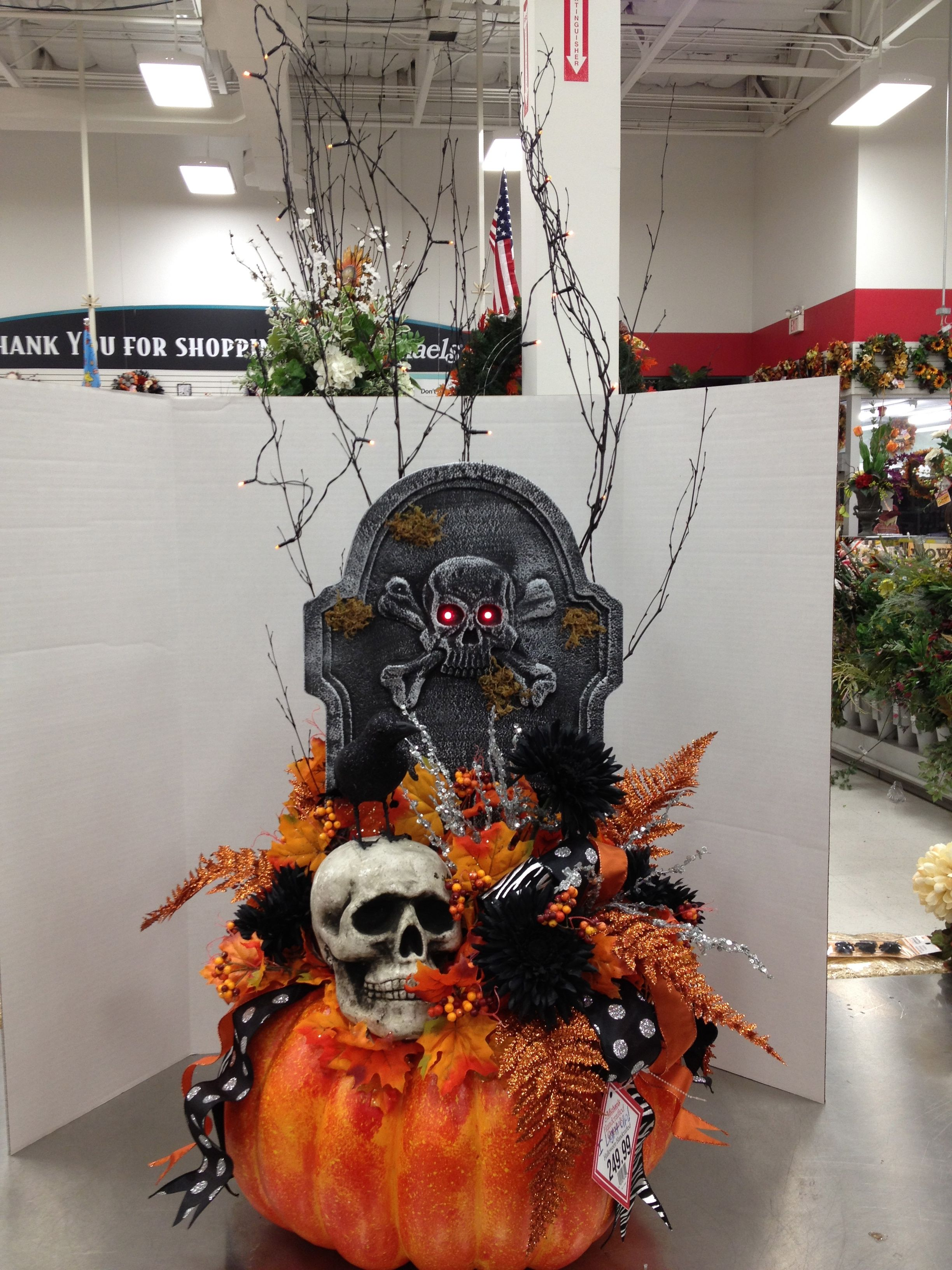 Halloween Lit Entry way or Patio Greeter By Christian Rebollo My - michaels halloween decorations