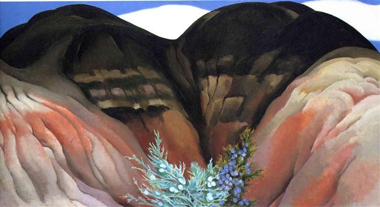 Black hills with cedar by okeeffe precisionism