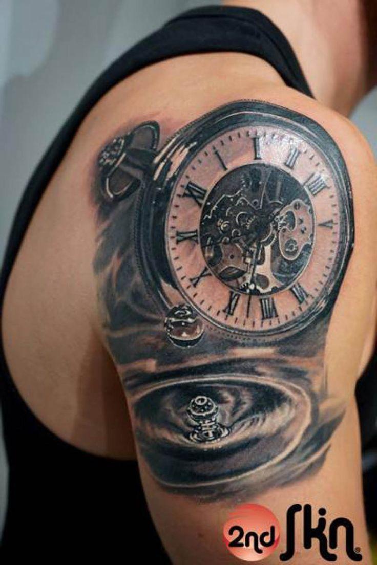 Realistic pocket watch tattoo  pocket watch tattoo google search more pocket watch tattoos tattoo ...