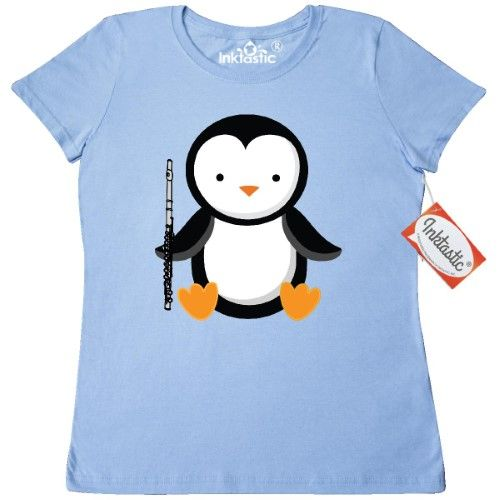 7d95607255 Inktastic Flute Penguin Music Women's T-Shirt Player Musical Instrument Marching  Band Funny Flutist Instruments Clothing Apparel Tees Adult Hws, Size: XL,  ...