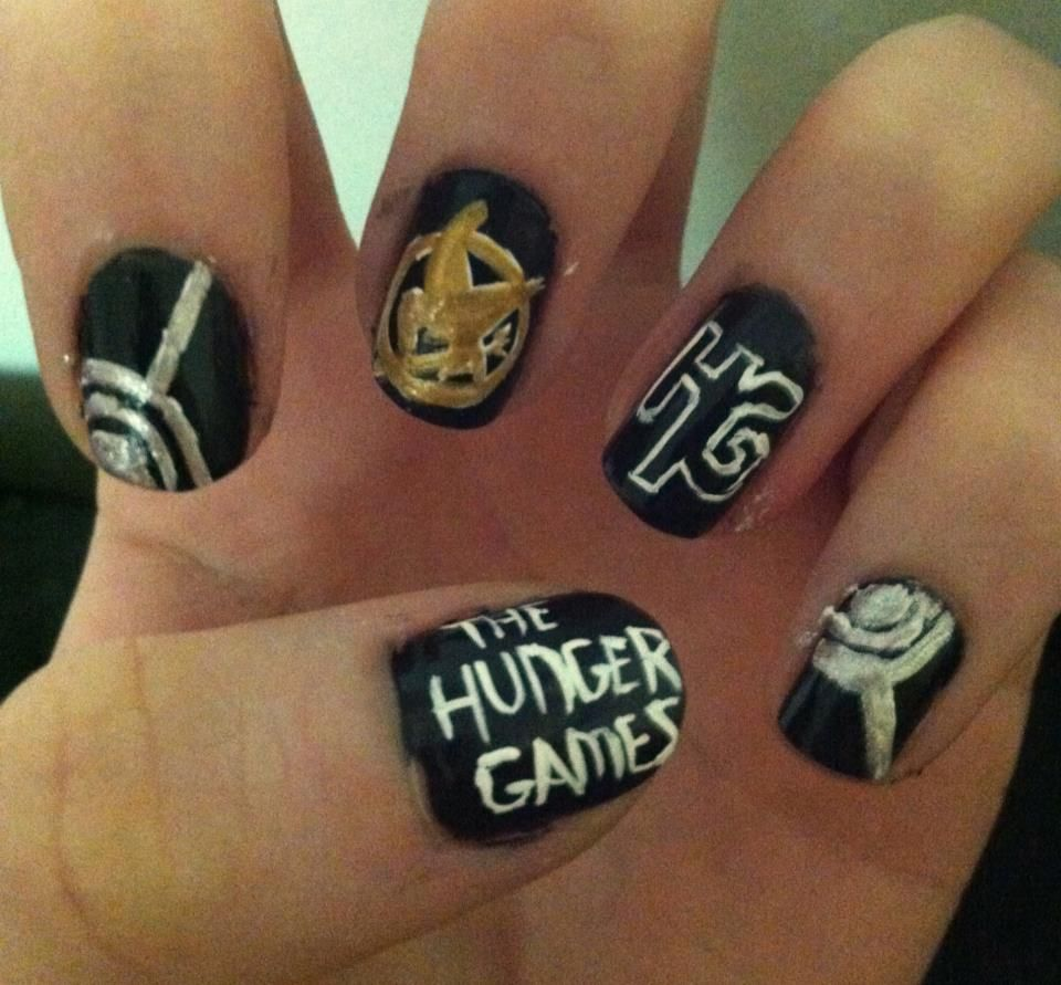 Hunger games nail art! | Nail art | Pinterest | Nail art, Game and Art