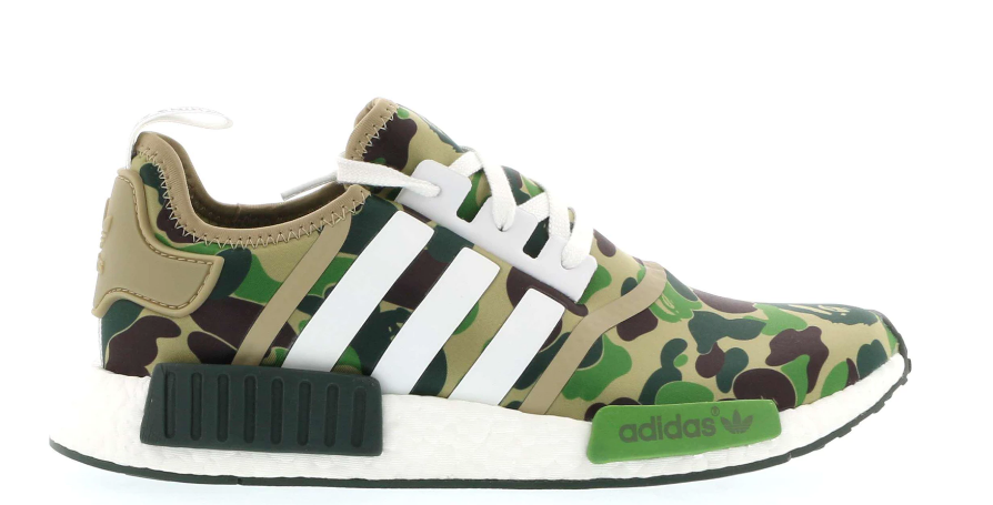 Details about Adidas X Bape NMD R1 Green Camo Size 4.5 7.5 8