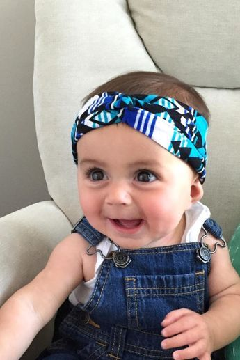 The Trendy Twisted Turban Headwrap : How to Make Headbands Yourself #babyheadbands