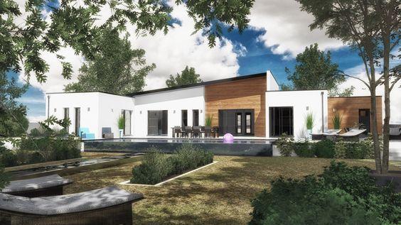 Votre maison design EOS de 158 m² habitables à toit monopente par