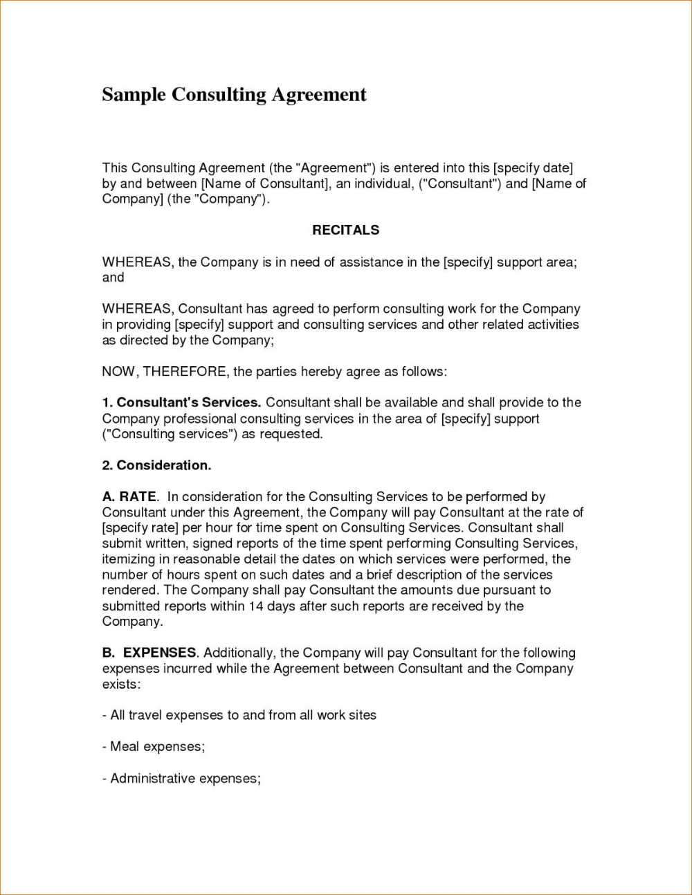Simple Consulting Agreement Sample Document Letter Consultancy With Regard To Consulting Service Agreeme In 2020 Contract Template Marketing Consultant Report Template