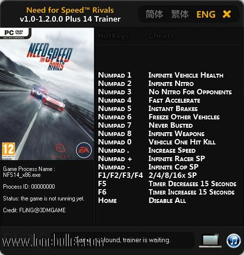 Trainer for nfs most wanted 2012 download.