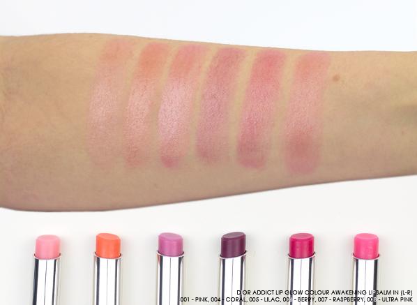 b6037cf9 Dior Addict Lip Glow Swatches   Blog/vlog love   Dior lip ...