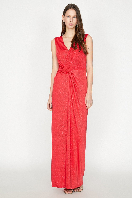 Koton Sim Detayli Kirmizi Uzun Abiye Elbise Elbisebul Elbise The Dress Resmi Elbise