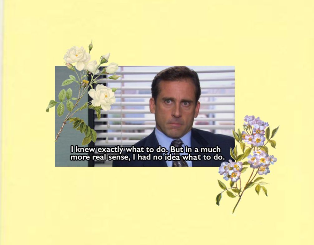 The office wallpaper quote aesthetic Office wallpaper