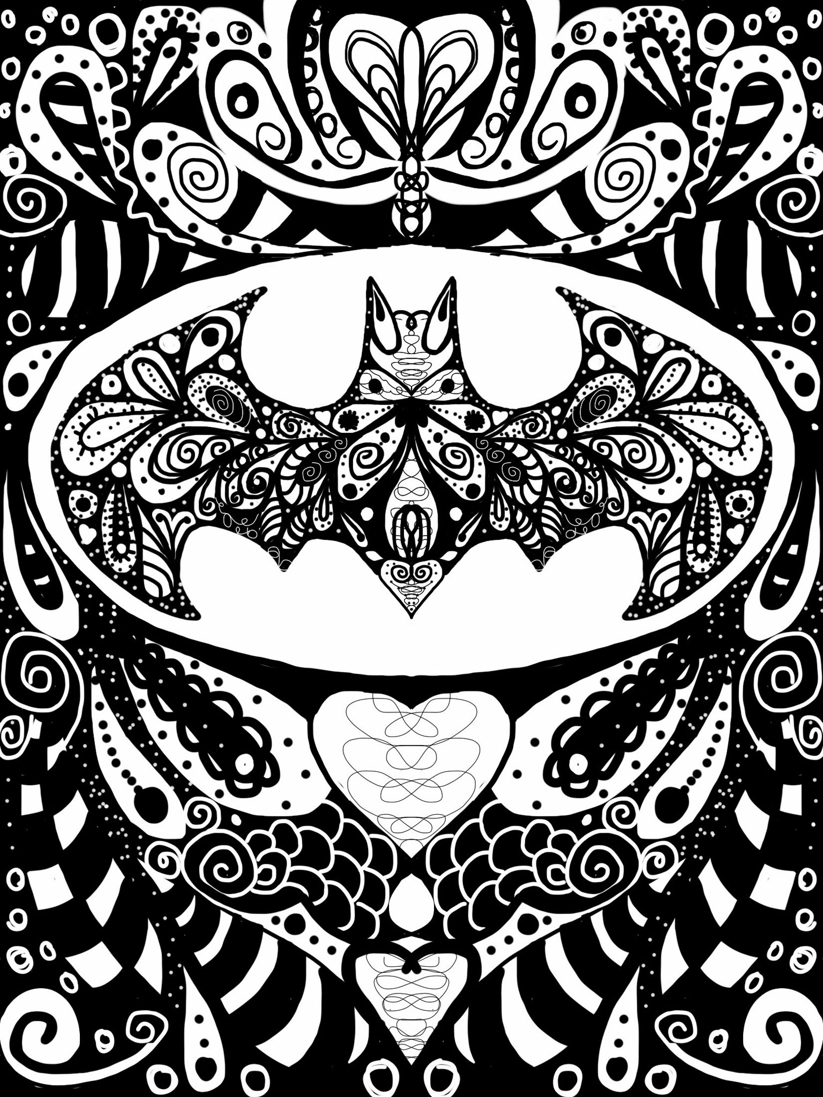 Batman Doodles And Zentangle Pinterest Batman Fan Art Batman