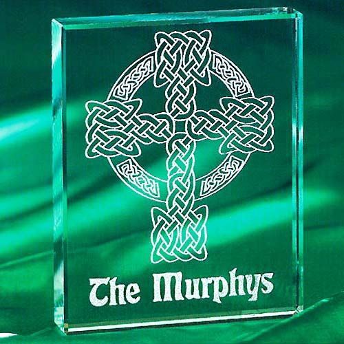 17 Personalized Celtic Cross Glass Block Glass Blocks Glass