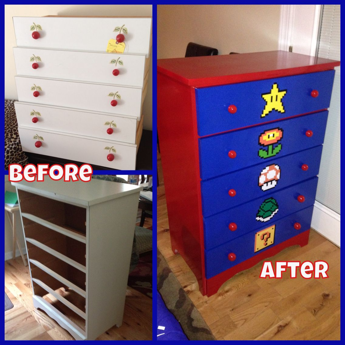 diy mario dresser kinderzimmer mario zimmer kinderzimmer ideen und kinderzimmer gestalten. Black Bedroom Furniture Sets. Home Design Ideas