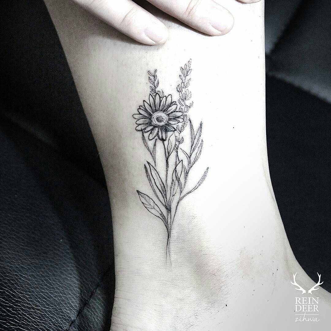 daisy and sunflower wildflower bundle tattoo Google
